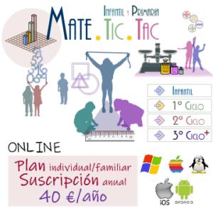 Suscripción anual a MATE.TIC.TAC